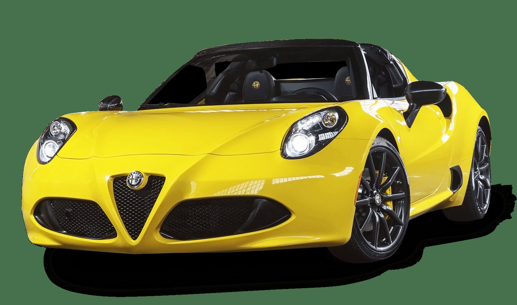 Latest Alfa Romeo 4C Spider Yellow Car Png Image Pngpix Free Download