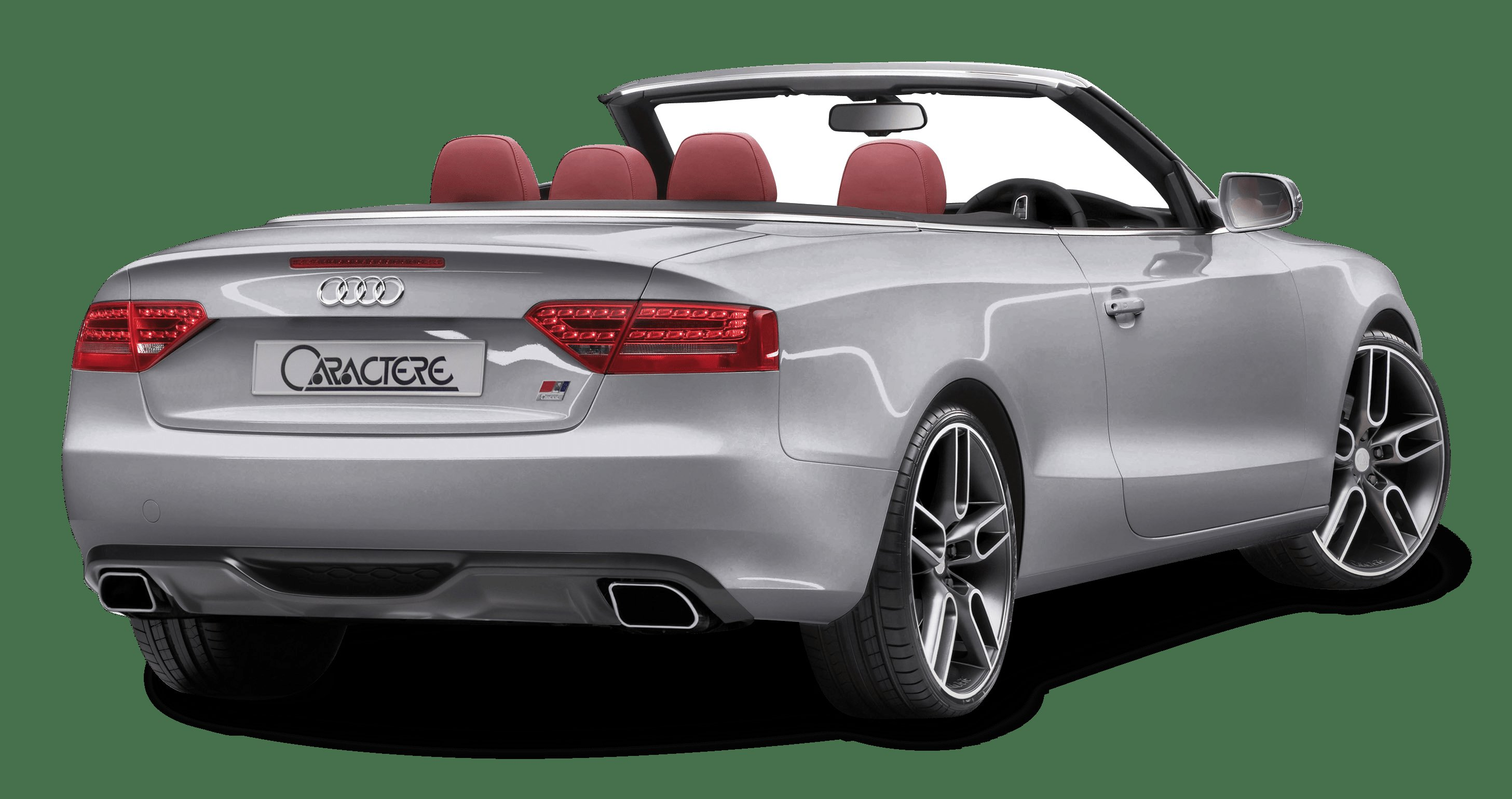Latest Audi A5 Cabrio Grey Back View Car Png Image Pngpix Free Download