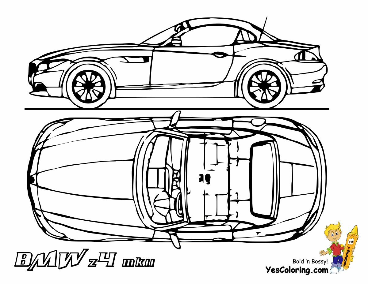 Latest Bmw I8 Coloring Pages Free Download