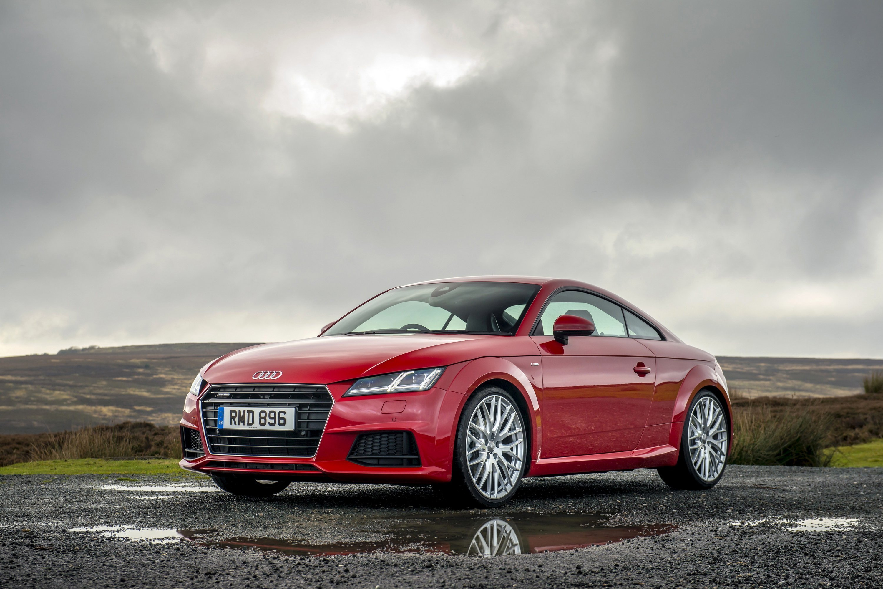 Latest 2015 Audi Tt Red Car Nature Wallpaper Cars Free Download