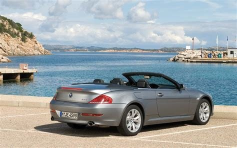 Latest 2008 Bmw 645I Convertible Rear Profile Top Down Photo 2 Free Download