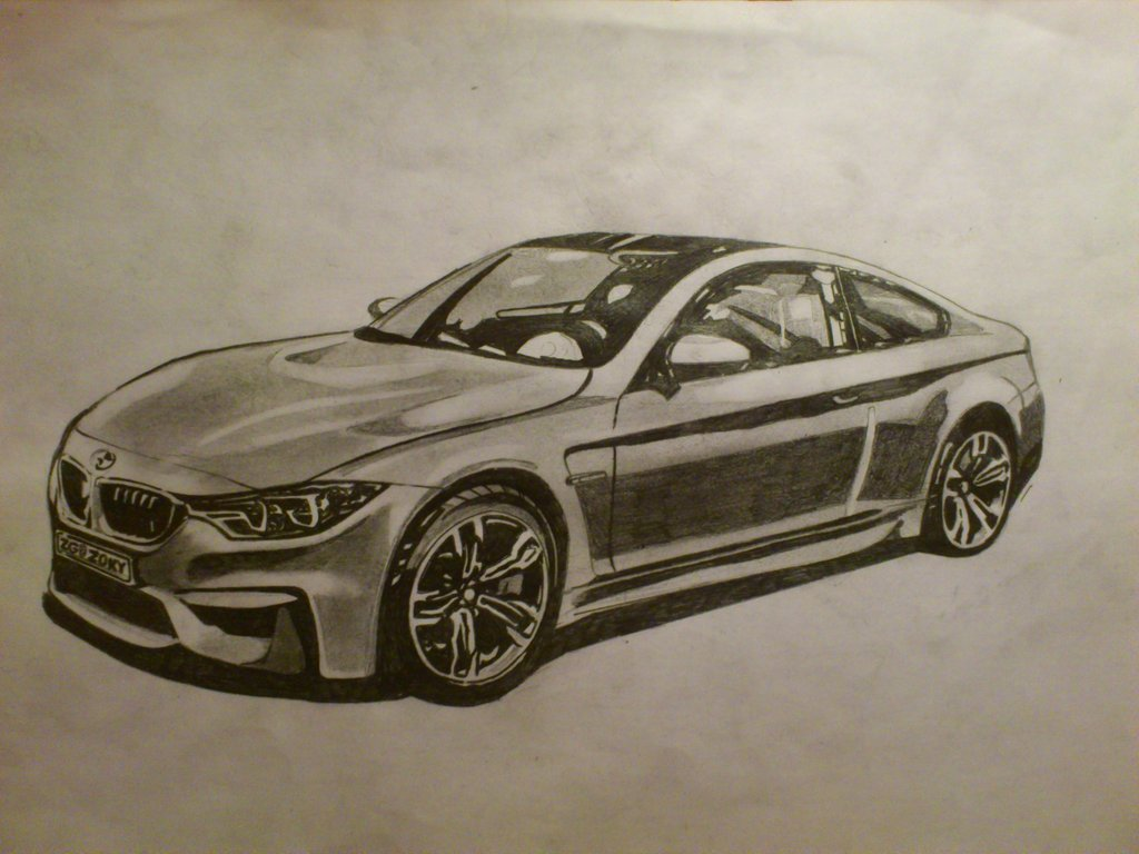Latest Bmw M4 Drawing By Zoky88 On Deviantart Free Download