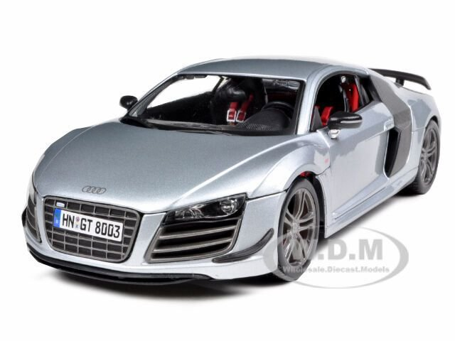 Latest Audi R8 Gt Silver 1 18 Diecast Model Car By Maisto 36190 Free Download