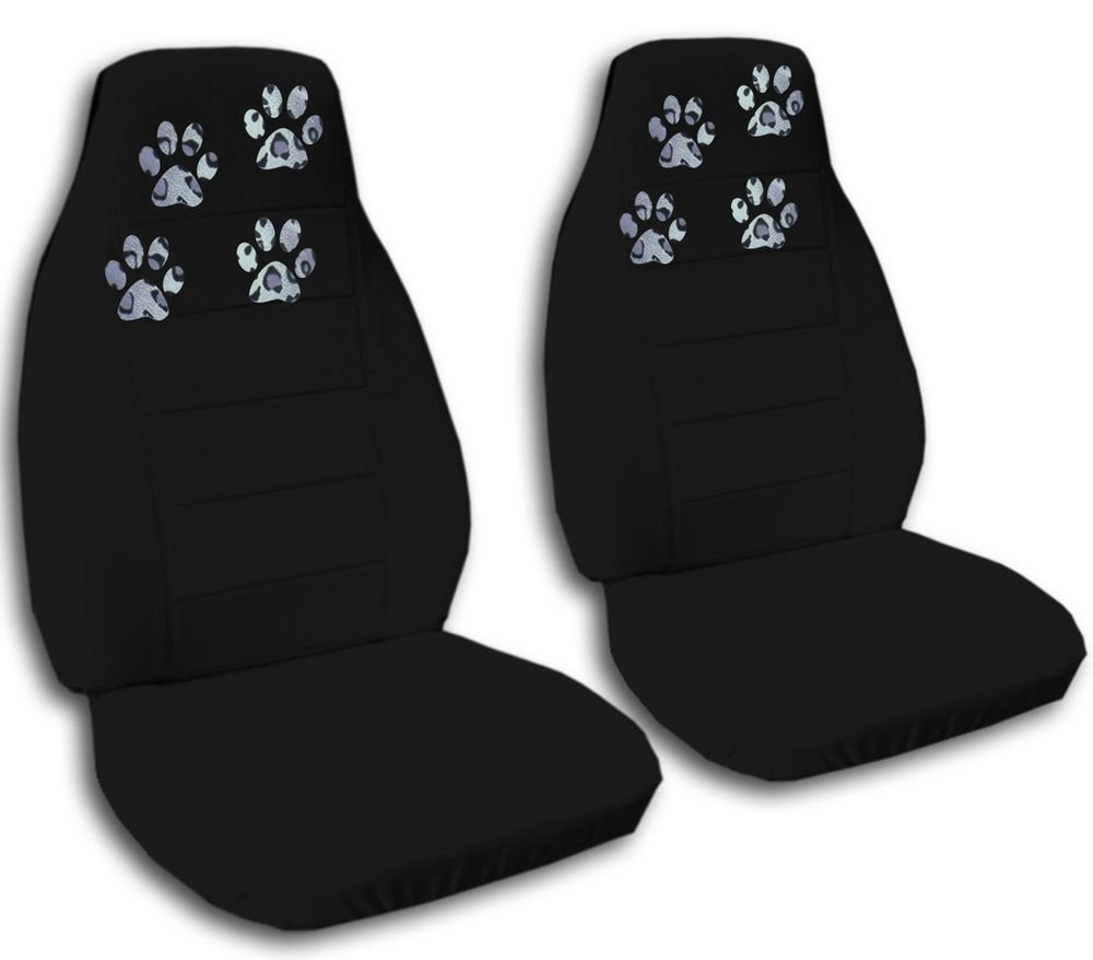 Latest Paw Prints Car Truck Van Seat Covers In Black Velour Front Free Download
