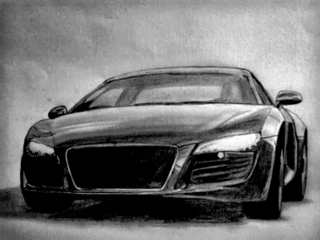 Latest Audi A6 Design Sketch Car Body R8 Back And Front Free Download