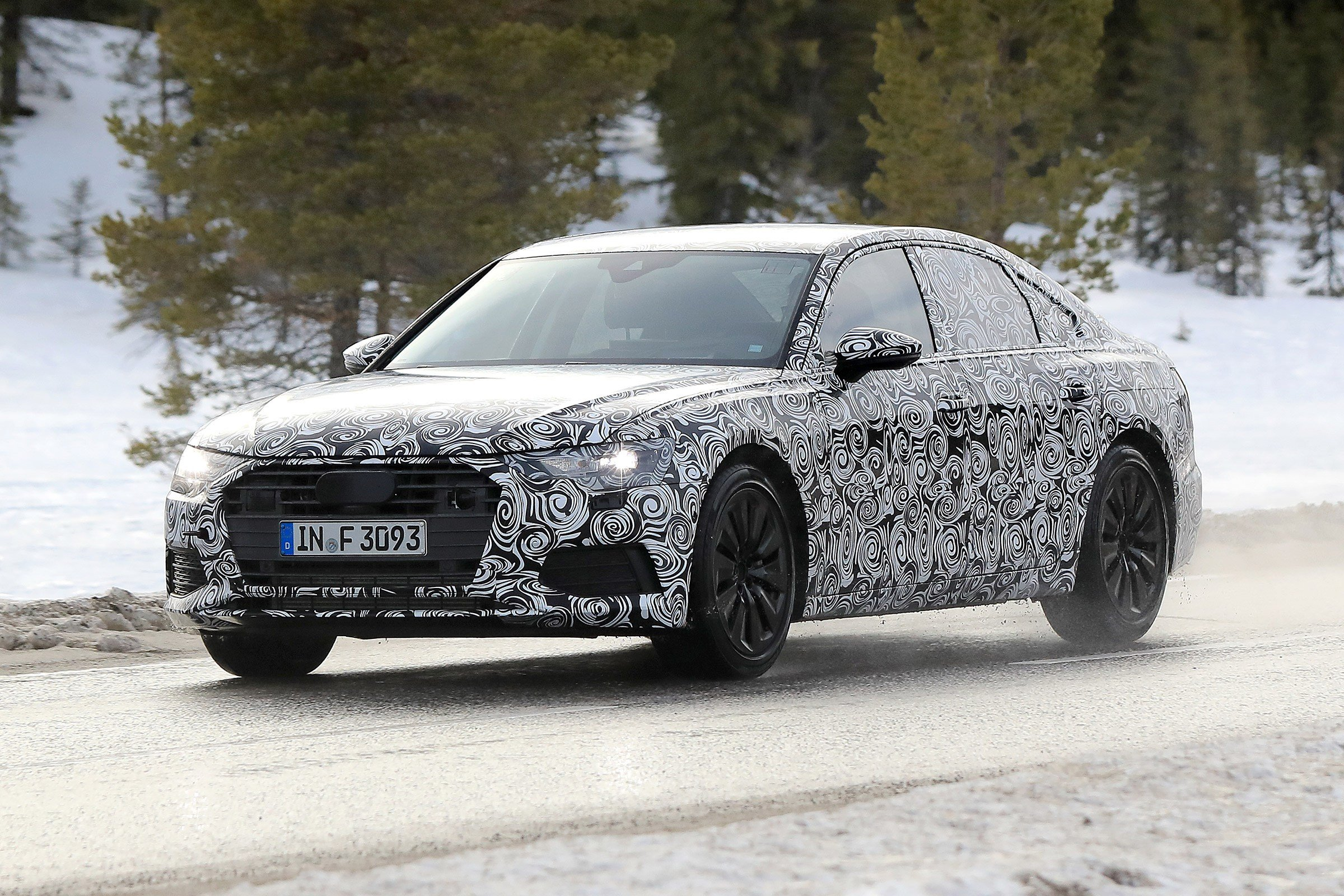 Latest New 2018 Audi A6 First Spyshots Of Audi S 5 Series Rival Free Download