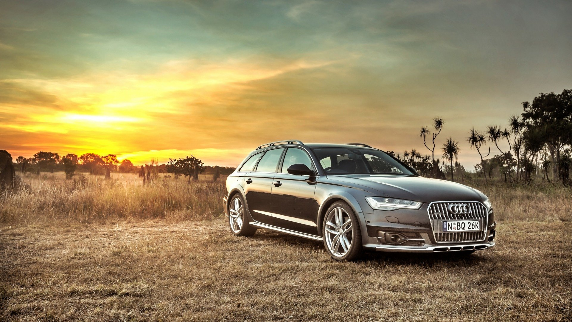 Latest Hd Background Audi A6 Allroad Side View Sunset Hdr Car Free Download