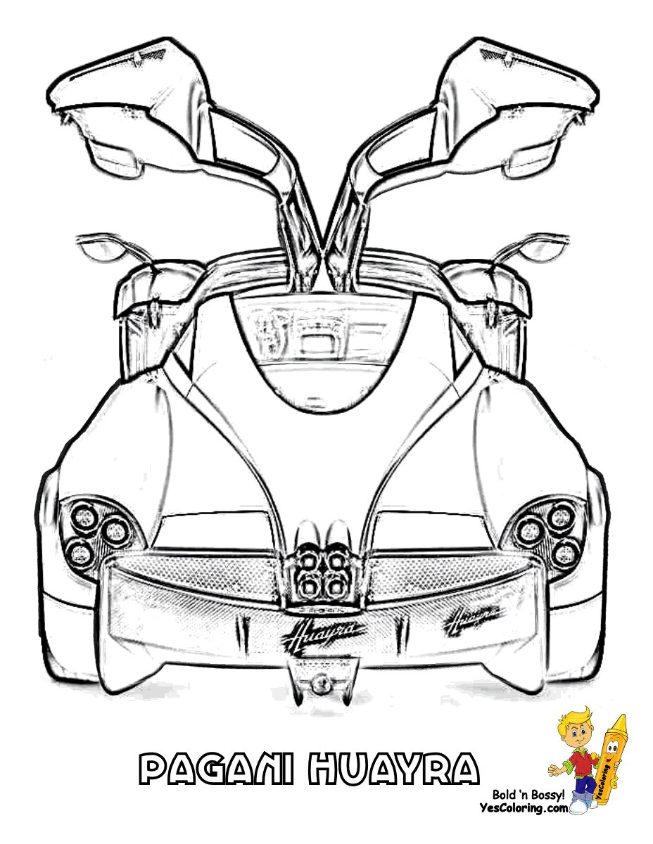 Latest Hair Raising Cars Coloring Pages Cars Pagani Free Download