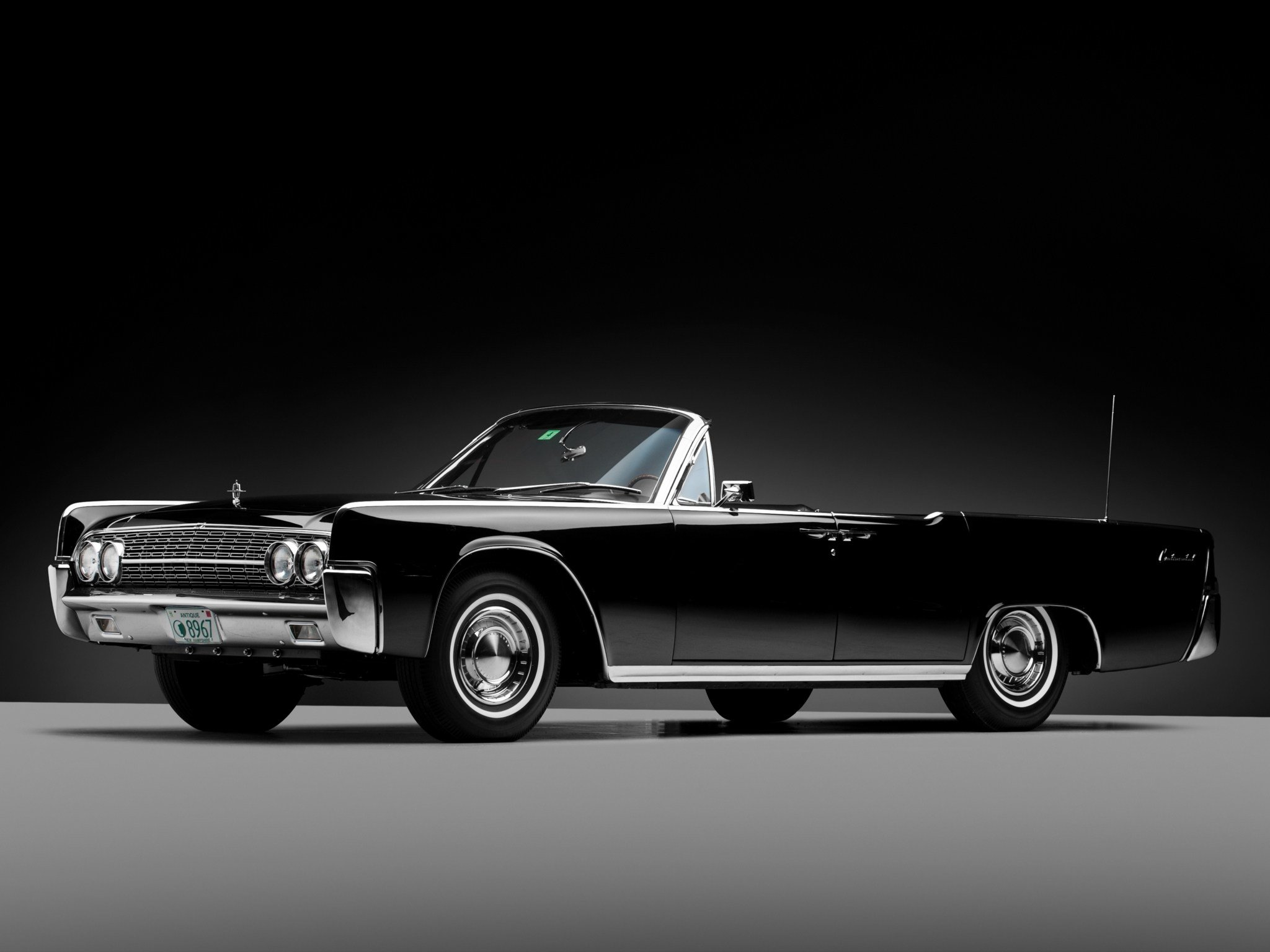 Latest Black Classic Car Lincoln Continental Wallpape 14223 Free Download