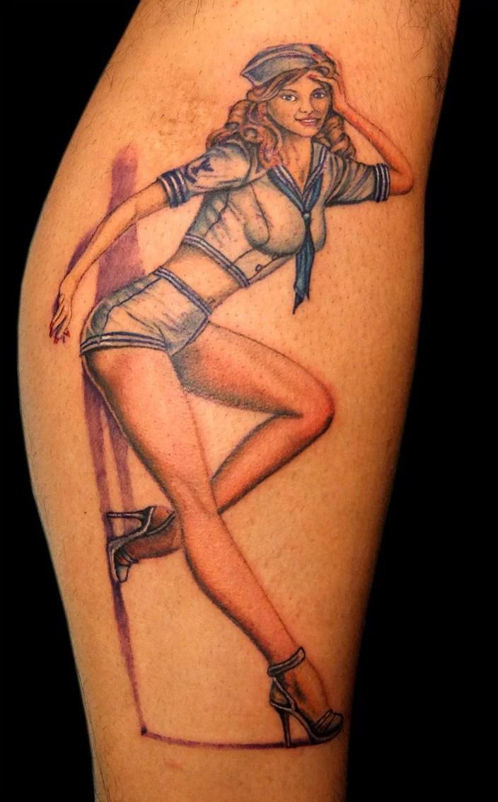pin up girl tattoos - 704×1133