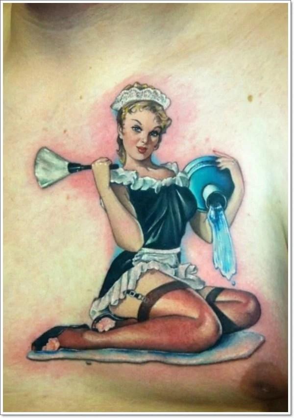 pin up girl tattoos - 600×853
