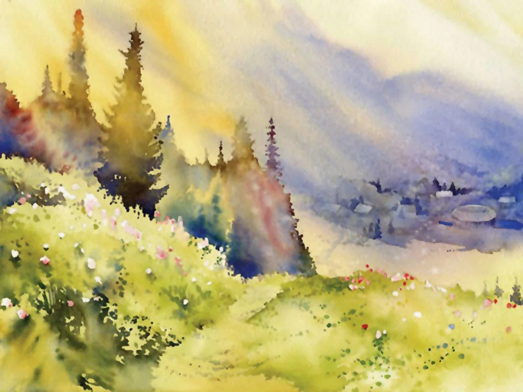 watercolor paintings images - HD1024×768