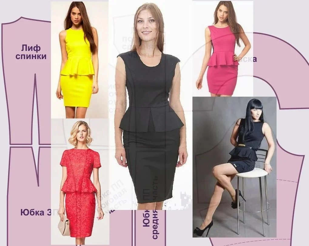12 simple patterns for beginners of straight dresses with instructions how to sew their own hands