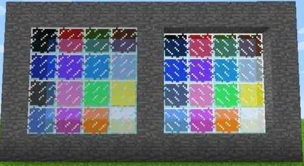 Miscellaneous glass in the game minecraft