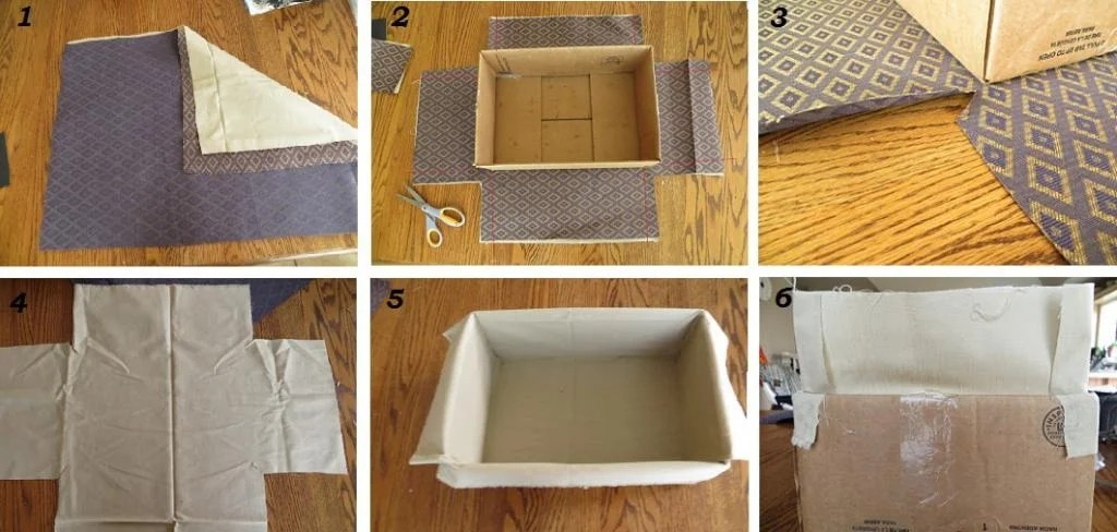 How to cover the box with a cloth: decorating options