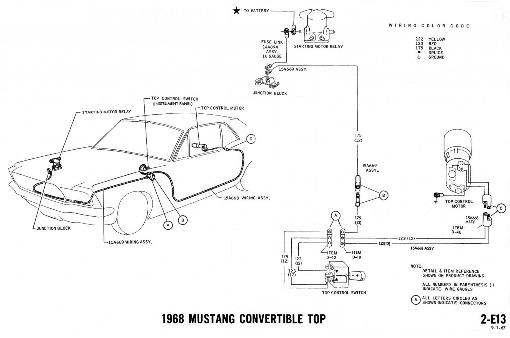 1966 Mustang Horn Wiring Diagram