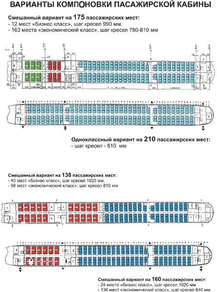 TU 154 схемасы