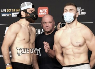 Битвы взглядов UFC 254: Хабиб - Гэтжи / Final face offs Khabib vs Gaethje weight in staredowns