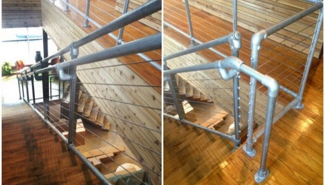 Metal Pipes And Cable Infill Deck Railing Mountain
