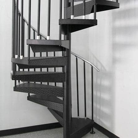 Our Spiral Staircase Products Materials Paragon Stairs   Black Metal Spiral Staircase   Spiral Stairs   Cat Spiral   Arke   Abandoned   Circle Metal