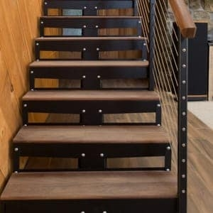 Prefab Staircases Indoor Outdoor Paragon Stairs   Prefab Outdoor Wood Stairs   Closed Stringer   Concrete   Stair Handrail Outdoor   Commercial   Prefab Metal