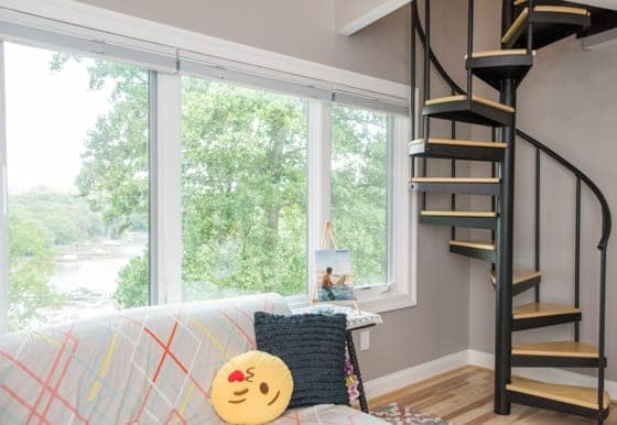 Tiny House Spiral Stairs Paragon Stairs   Spiral Stairs For Small Spaces   Minimalist   Low Budget   Semi   Corner   Acrylic