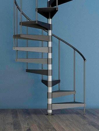 Spiral Staircases Prefab Custom Designs Paragon Stairs   8 Foot Spiral Staircase   Stair Railing   Winding Staircase   Stair Parts   Wood   Modern Staircase