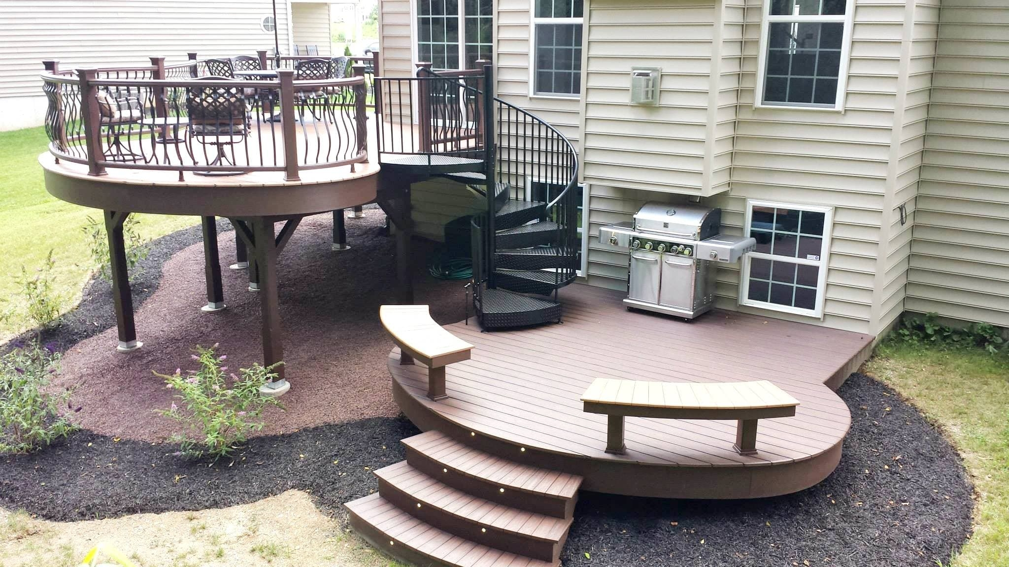 Five Weekend Diy Deck Projects Salter Spiral Stair | Spiral Staircase For Outside Deck | Iron | Custom | Double Spiral | Railing | Portable Rectangular Concrete
