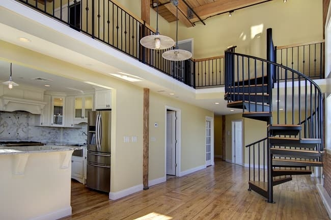 Loft Style Home Designs Characteristics Salter Spiral Stair | Style Of Stairs Inside House | Outside India House | Spiral | Design | Mansion | Historic House