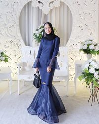 Image Result For Model Gamis Brokat Warna Abu Abu