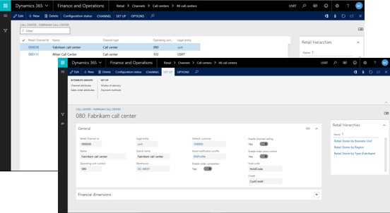 Create new Call Center in Microsoft Dynamics 365 for Retail
