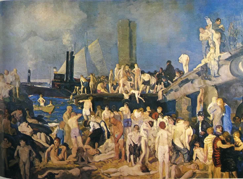 Riverfront George Bellows Wallpaper Image