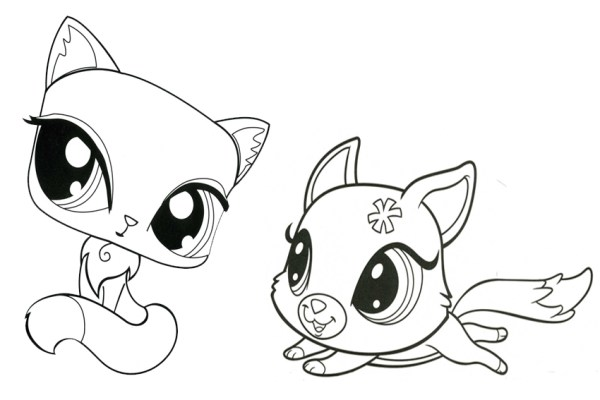 little pet shop coloring pages # 21