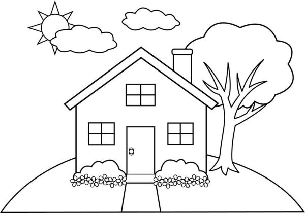 coloring pages of houses # 18