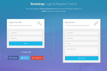 Bootstrap Login and Register Forms in One Page  3 Free Templates     Bootstrap Login and Register Forms in One Page