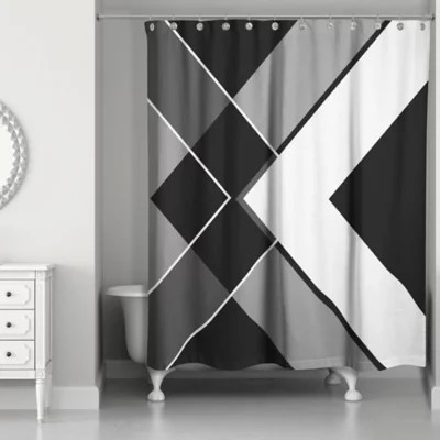 Bath Bed Curtains And And White Black Shower Beyond