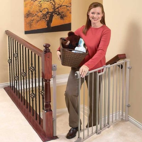 Comparing The Best Baby Gates For Stairs Top And Bottom Baby   Top Of Stairs Banister   Indoor   Rail   Barn Wood   Residential   Different Color