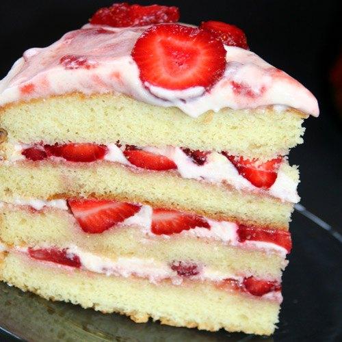 Vanilla And Strawberry Cake Recipe
