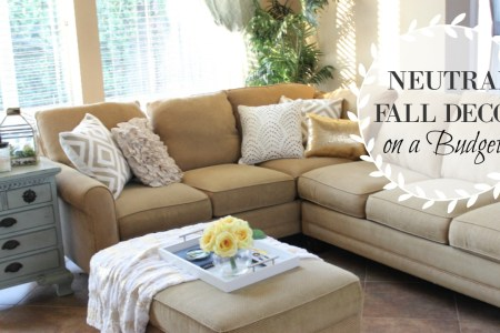 My Neutral Fall Living Room Decor on a Budget     The Bajan Texan It s almost Fall  I am so ready for all things pumpkin and cool weather   and that includes my new fall decor  I headed to one of my favorite stores  for