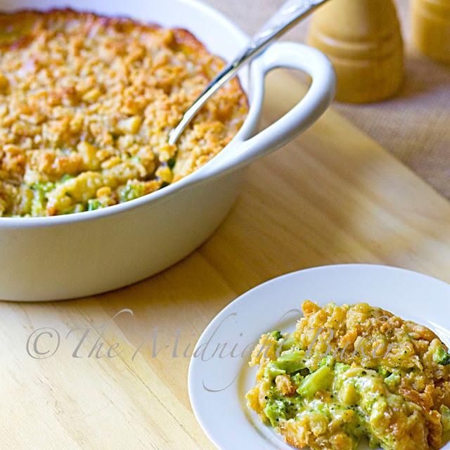 Buttery Broccoli Cheese Caserole