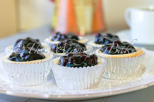 Lemon Blueberry Cheesecake Tarts