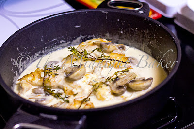 Mushroom Asiago Chicken in Gastrolux Saute Pan