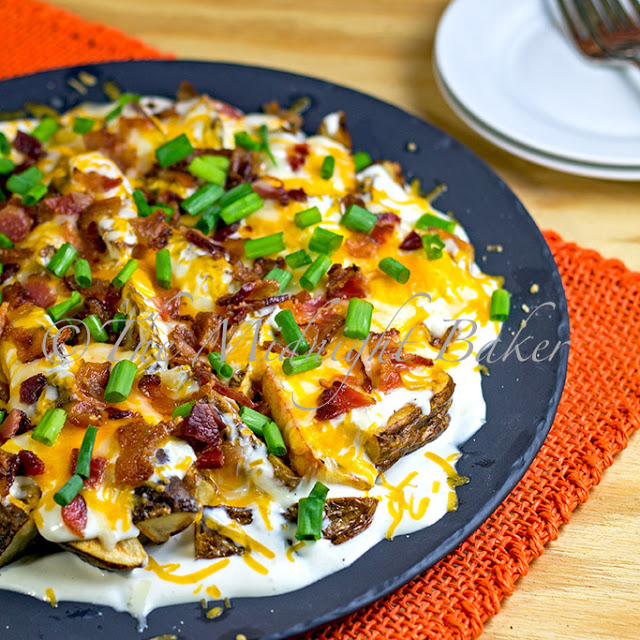 Bacon Cheese Potato Wedges