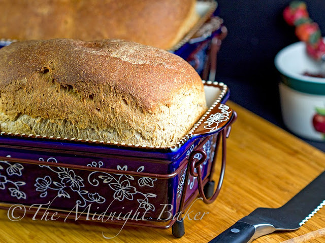 Honey Wheat Bread #YeastBreads #WholeGrain Breads #BreadRecipes