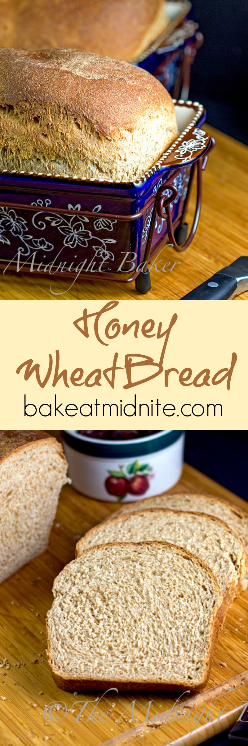 Here's an easy wheat bread that has a smooth texture--not mealy. This one you can eat like cake!