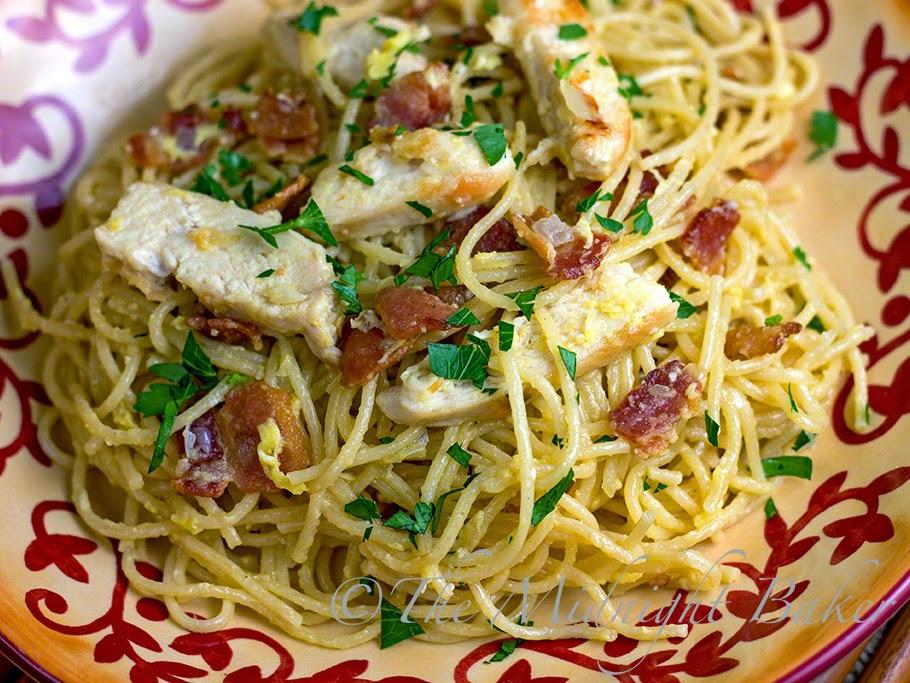 Chicken Carbonara #PastaDinners #PastaCarbonara #Chicken