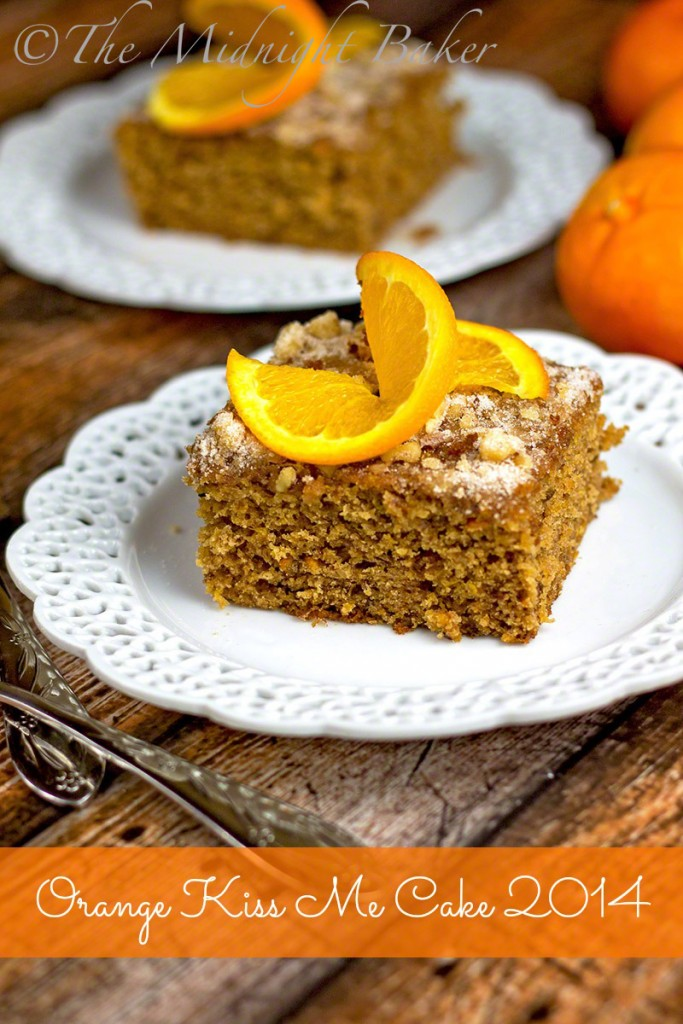 Orange Kiss Me Cake 2014   bakeatmidnite.com   #fruitcakes #dessert #kitchenaidmixer #kitchenaidfoodprocessor