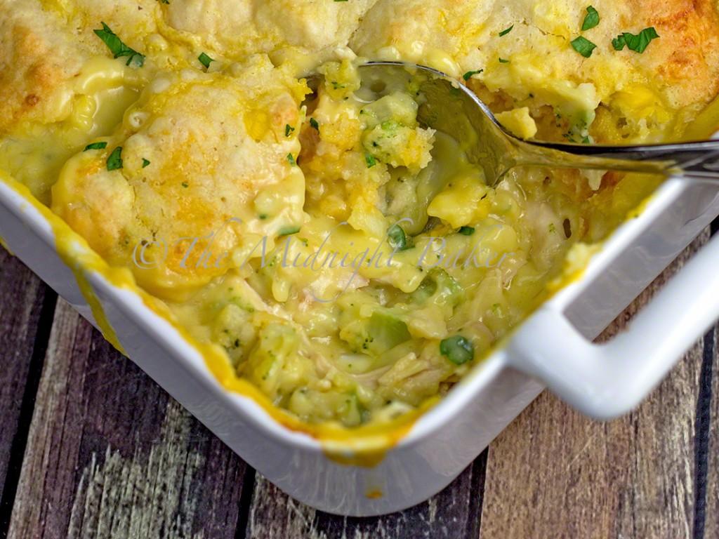 Magic Chicken Pie | bakeatmidnite.com | #casseroles #chicken #potpie