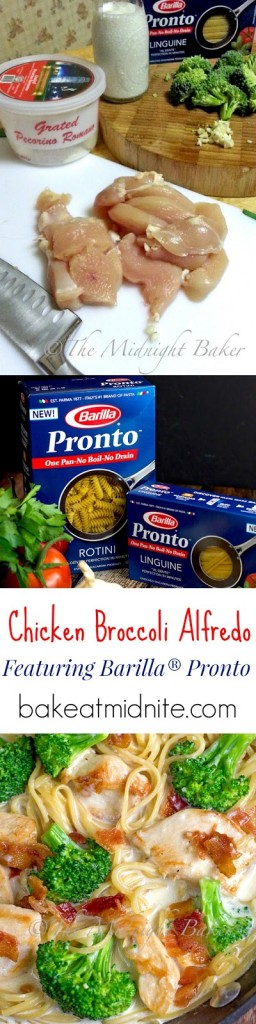Barilla® Pronto Chicken Broccoli Alfredo   bakeatmidnite.com   #OnePotPasta #PMedia #ad #chicken