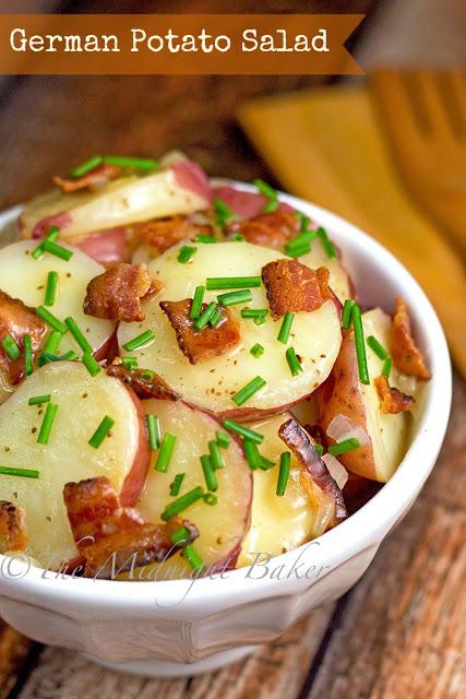 German Potato Salad   bakeatmidnite.com   #potato #salad #recipe